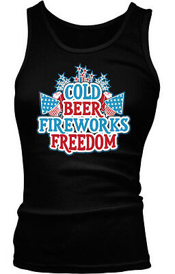 Guns Beer Freedom Pistols Cans America July Fourth 4th USA Men/'s V-Neck T-Shirt