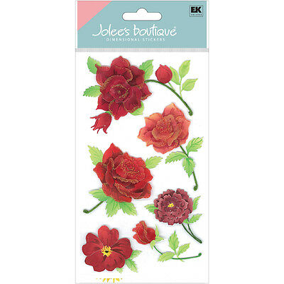Jolee's COLORFUL ROSES Stickers FLOWERS LOVE VALENTINE'S DAY
