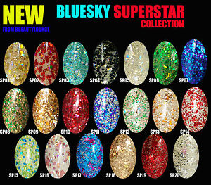 BLUESKY-SUPERSTAR-RANGE-DIAMOND-GLITTER-NAIL-POLISH-UV-LED-SOAK-OFF-GEL-10ML-SP