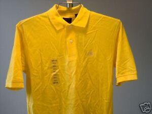 Izod-Polo-Shirt-Yellow-Small-Mens-New-NWT