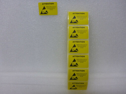 50x Yellow ESD Caution Labels Antistat 38 x 25mm Anti-static Warning Stickers