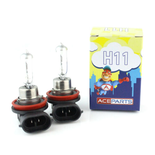55w Clear Standard Halogen Xenon HID Front Fog Lamp Light Bulbs Pair