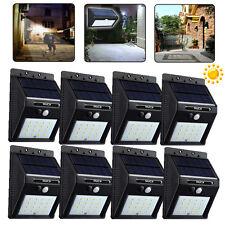 8x16 LED Solar Power Motion Sensor Outdoor Waterproof Garden Security Lamp Light