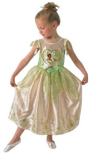 Loveheart Tiana Girls Fancy Dress Disney Fairytale Kids Childs Costume Outfit