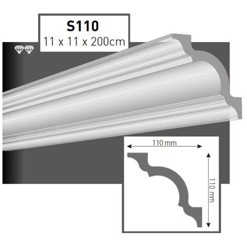 30 Meter Styroporleisten Zierprofile Stuckprofile Stuckleiste 110x110mm  S110