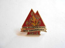 2013 Fire Mountain Gems Jewelry and Beads 40th Anniversary Enamel Lapel Pin