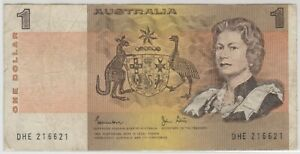 Mazuma *F820 Australia QE 1969 $1 DHE216621 AVF