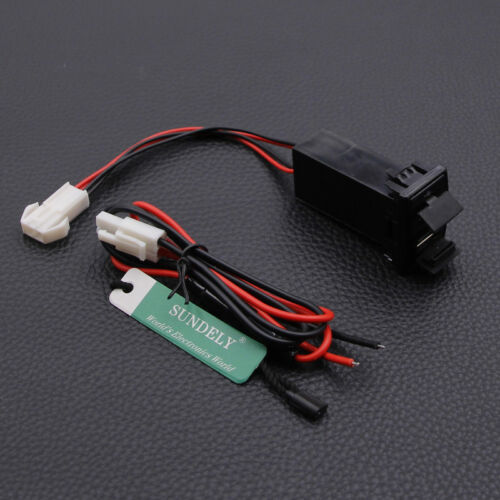 Charger Adapter Twin Dual Double 2 USB Port 12V In Car Socket Lighter Fit Mazda