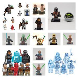 lego-star-wars-minifigures-darth-vader-kyloren-luke-yoda-the-mandalorian-leia-tv