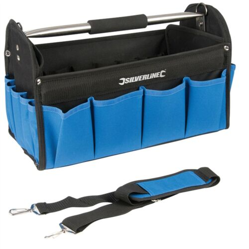 Silverline Tote Tool Caddy Sac Carry Case with Heavy Duty Base Holdall Jardinage