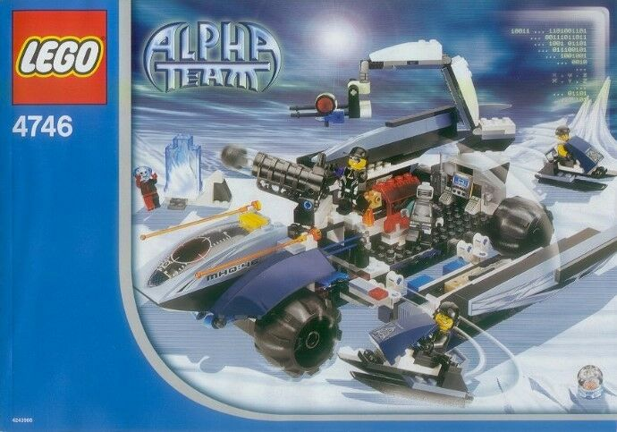 Lego Agents Alpha Team 4746 Mobile Command Center Nuovo SEALED Ships World Wide