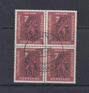 BRD-Mi-Nr-365-Viererblock-4er-Block-gestempelt