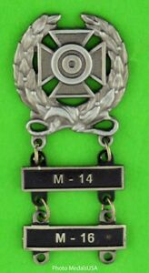 Army-Expert-Marksmanship-Badge-with-M-14-amp-M-16-Qualification-Bars