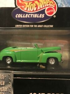 1947-FORD-SPORTSMAN-SUPER-DELUXE-Convertible-Green-Hot-Wheels-Black-Box-1-64