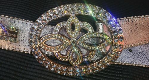 B.B. Simon Women's Swarovsky Crystals Silver Itali