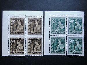 Germany Nazi 1944 Stamps MNH Adolf Hitler Swastika WWII Third Reich B&M German
