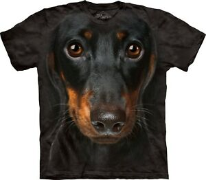 Dachshund-Face-Dog-T-Shirt-Adult-Unisex-The-Mountain