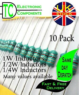 10 x 1//2W 33uH Inductor