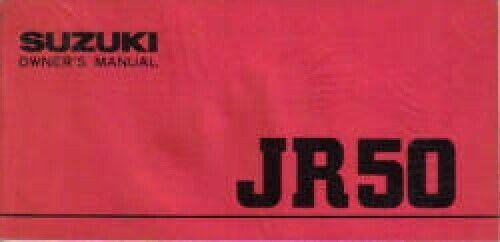 1980 Suzuki JR50 Motorcycle Owners Manual