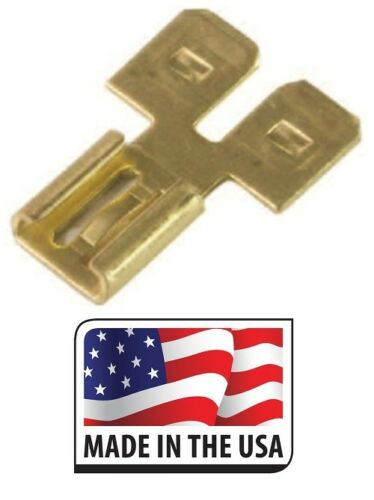 """5 PC 3 WAY Female//Double Male .250 1//4/"""" WIRE CONNECTOR MADE IN USA"""