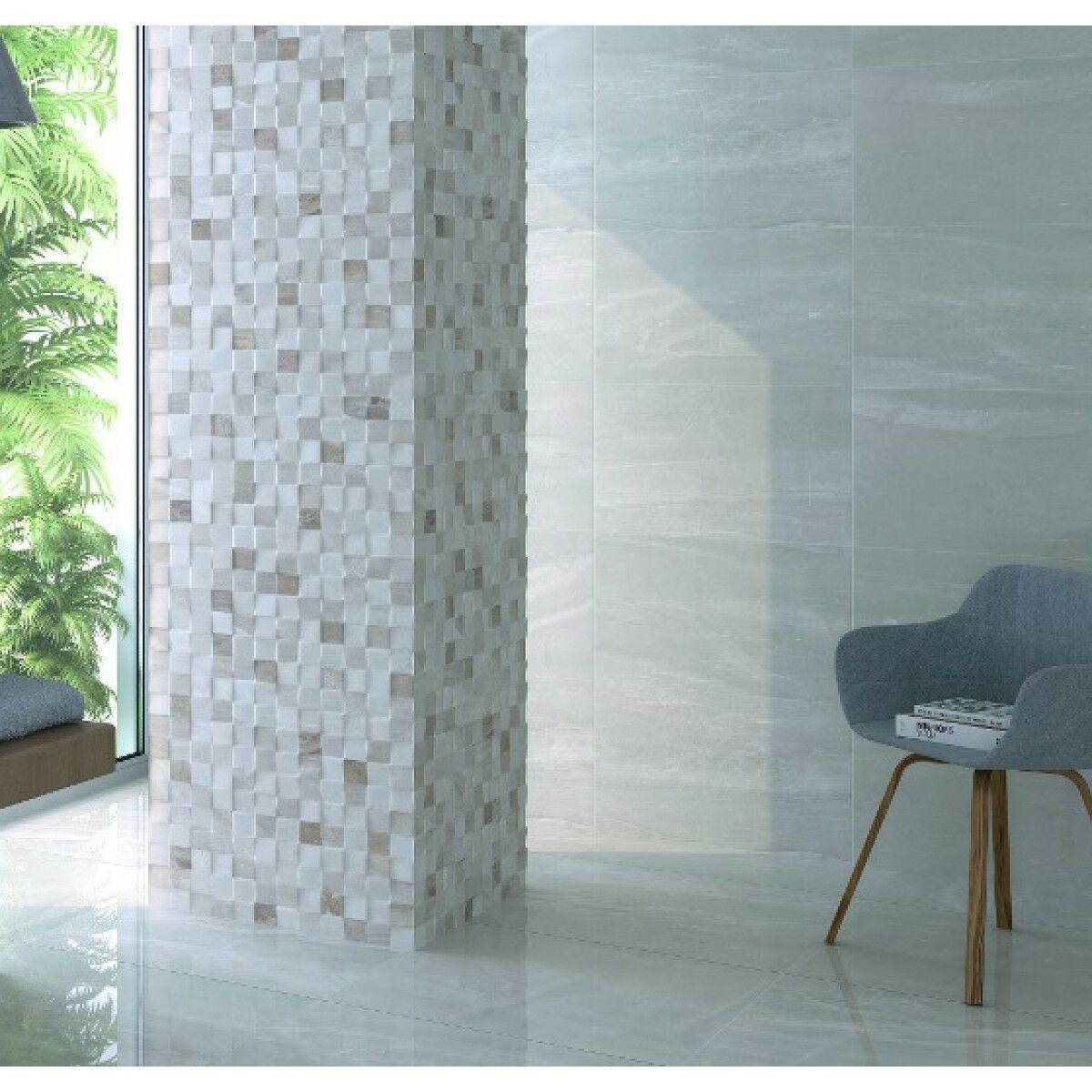 Atrium High Gloss Bathroom Wall Tiles Package Deal 33.3*55 Grey ...