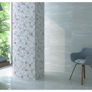 atrium high gloss bathroom wall tiles package deal 33 3 55 grey