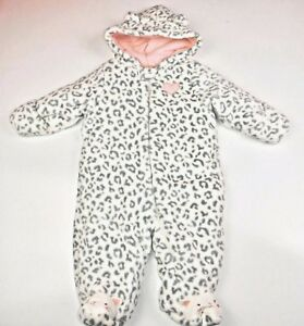 d6ab2ff913af Little Wonders Baby Girl s Layette Snowsuit Pink Gray Soft Fleece ...