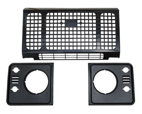 3pc ABS Heritage style front grille kit for LandRover Defender headlamp surround