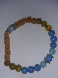 Handmade-Healing-Personalised-034-PRETTY-WOMAN-034-NATURAL-GEMSTONE-BEADED-BRACELET