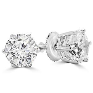 2-4-CTW-ROUND-DIAMOND-STUD-EARRINGS-14K-WHITE-GOLD