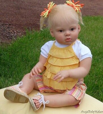 "For 27/"" Reborn Baby Kits Soft Vinyl Doll Head Newborn Arms Legs Toy Handmade"