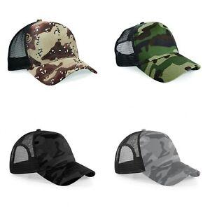 Beechfield-Lot-de-2-casquettes-camouflage-Homme-RW6701