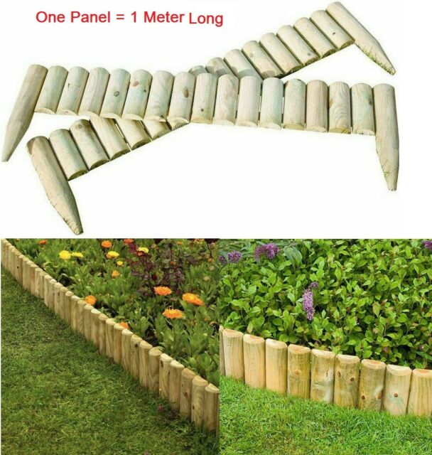 Garden Lawn Edging Willow Rigid Arched 1m Panels Border Hurdle