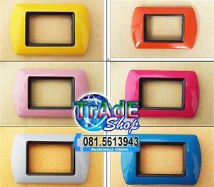 Placche in abs per serie compatibile living international bticino vari colori ebay - Placche living international ...