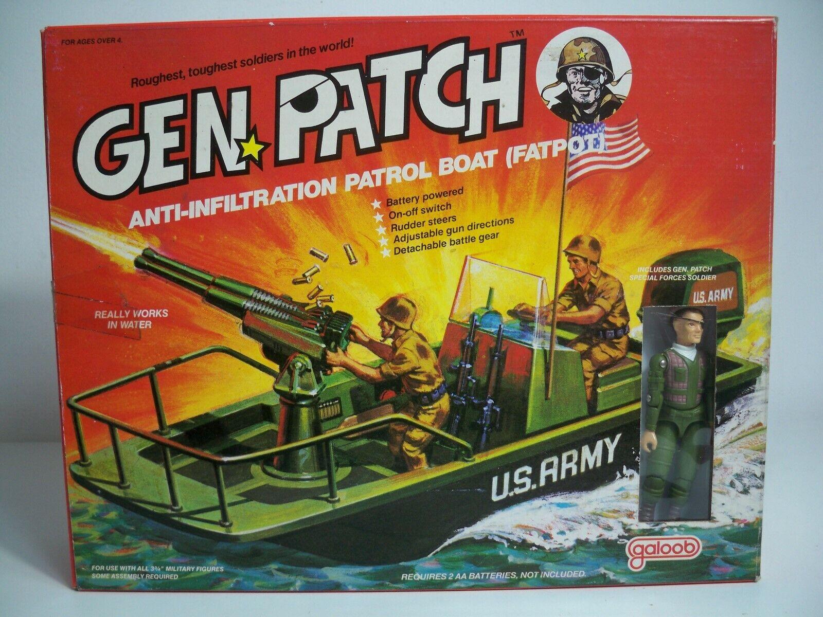 K190026 ANTI-INFILTRATION PATROL BOAT MIB MINT IN BOX GEN PATCH 1983 GALOOB