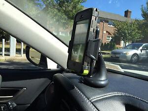 CAR LEATHER DASHBOARD WINSHIELD MOUNT HOLDER FOR SAMSUNG GALAXY S6 EDGE PLUS