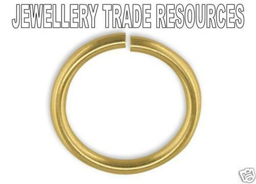 9ct Yellow Gold 8mm Heavy Jump Ring Jewellery Making