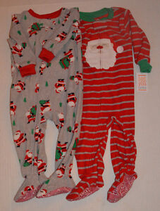 Toddler Boy Christmas Pajamas.Details About New Lot Of 2 Toddler Boys Santa Claus Fleece Footed Holiday Christmas Pajamas
