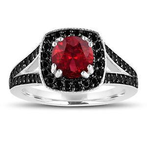 Red-Garnet-amp-Enhanced-Fancy-Black-Diamonds-Engagement-Ring-14K-White-Gold-1-76ct