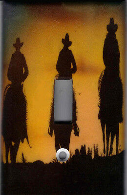 COWBOY SILHOUETTE - WESTERN HOME DECOR LIGHT SWITCH PLATE