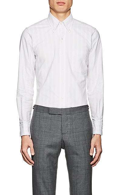 NWT AUTHENTIC THOM BROWNE pink striped shirt Size 2 PINK