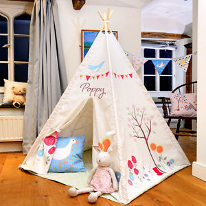low priced 25692 aa845 Details about Personalised Children's Kids Teepee Wigwam Indoor Tipi Play  Tent Gracie's Garden