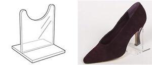 Soporte de talón de acrílico: 80 mm (H) OW9002 pantalla de calzado Pos De Plástico Perspex