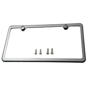 Image Is Loading Slim Style Polished Stainless Steel License Plate Frame