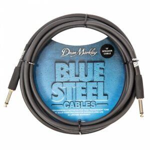 Dean-Markley-10ft-Blue-Steel-Black-Speaker-Cable-Ideal-for-Amp-to-Speaker-Lead