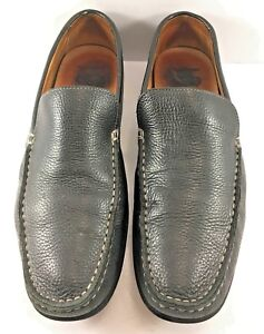 3188c524bb6 Image is loading 1901-By-Nordstrom-Black-Leather-Moccasins-Loafers-Mens-