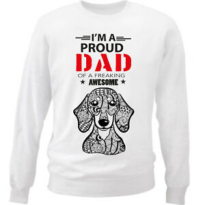 DACHSHUND-SHORT-COAT-IM-A-PROUD-DAD-NEW-WHITE-COTTON-SWEATSHIRT