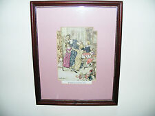 "Arthur Rackham Original Book Plate Print From Christmas Carol ""A Flushed 11"" x 9"