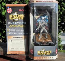 1997 Pewter Comic Book Champions DC Comics Mr Freeze Modern Age Figure W/Stand