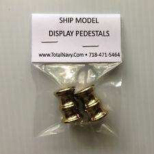 Model Ship Display Pedestals - Brass